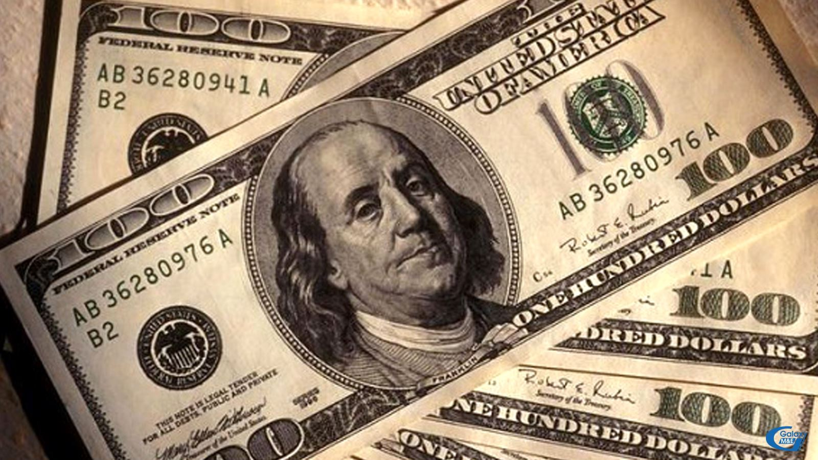 Benjamin Franklins face is on all 100 USD bills.