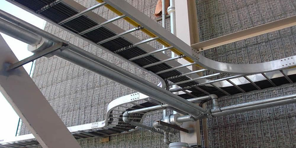 Cable ladders are often used for industrial buildings